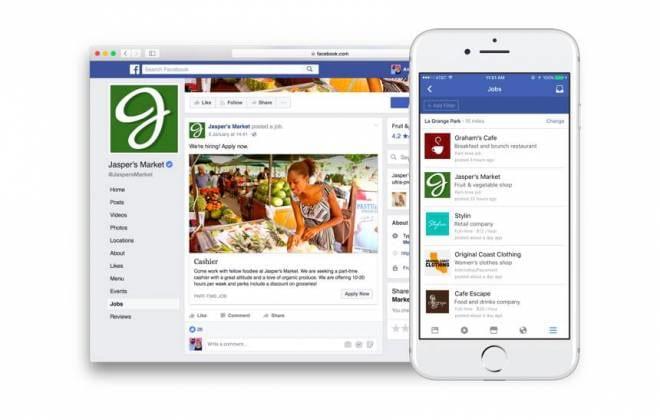 Usuários do Facebook poderão encontrar vagas de trabalho através da própria rede social. Novidade deverá chegar em breve para mais países.