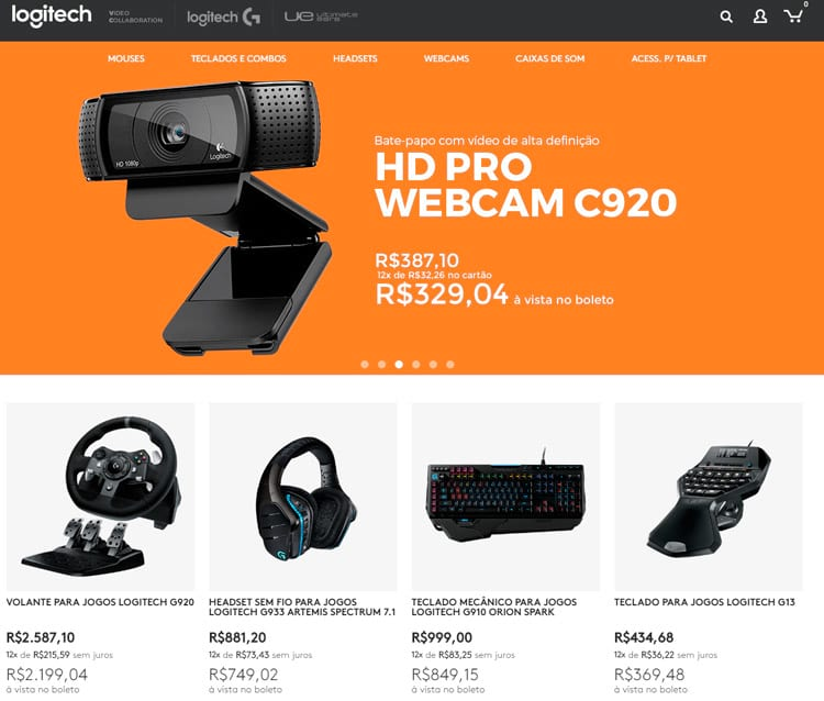 Logitech firma parceria e lança sua loja oficial no Brasil