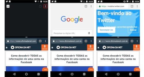 Como abrir duas abas do Google Chrome pelo Android Nougat