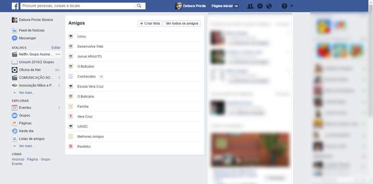 Como filtrar o que aparece no feed de notícias do Facebook