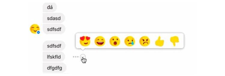 """Facebook começa a testar o uso de reações nas conversas dos usuários através do Messenger. Como novidade principal, o botão """"não curti"""" aparece entre as opções."""