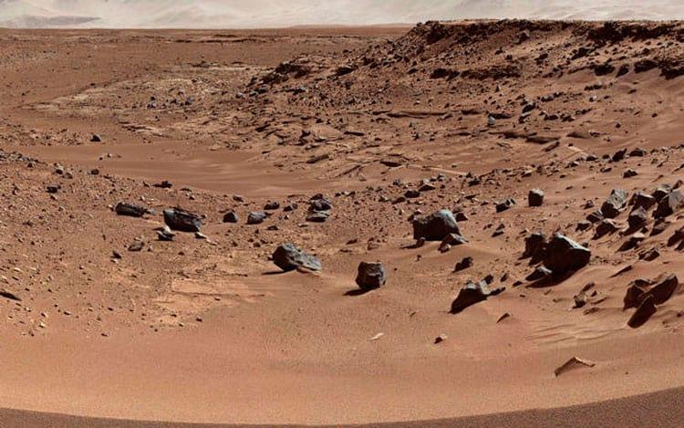 Atualmente o solo marciano é árido e o clima passa dos 55° negativos