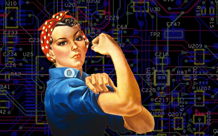 Sim! O mundo est&aacute; mudando! Mesmo com um percentual mais baixo do que de <a onclick=&quot;_gaq.push(['_trackEvent', 'link_tag', 'pfr18517', 'tagto_homens']);&quot; href='https://www.oficinadanet.com.br/homens'>homens</a> no setor tecnol&oacute;gico, as mulheres, cada vez mais ganham espa&ccedil;o.