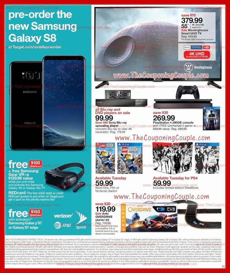 Panfleto de loja mostra Galaxy S8.