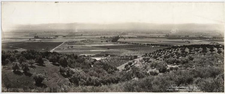 Foto do Vale do Silício tirada em 1914 no topo do Monte Hamilton