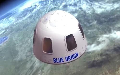 Blue Origin divulga imagens da sua cápsula espacial