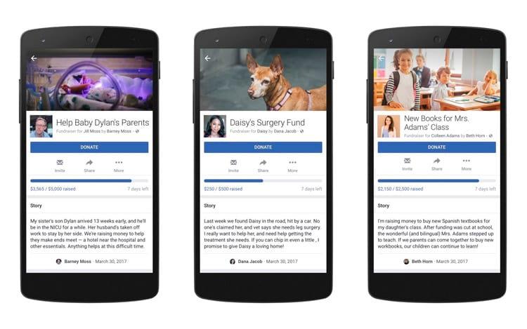 Facebook vai permitir doações pessoais para causas nobres
