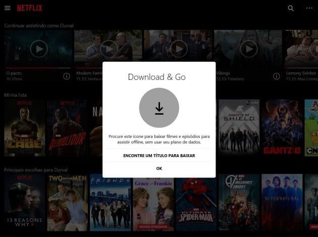 Netflix libera download de filmes para app no Windows 10