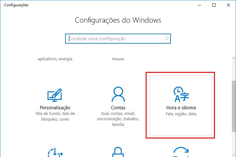 Como alterar o idioma no Windows 10