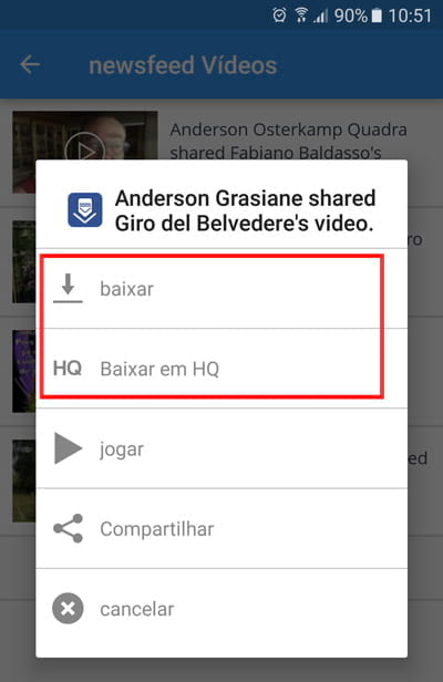 Como enviar vídeos do Facebook para o Whatsapp