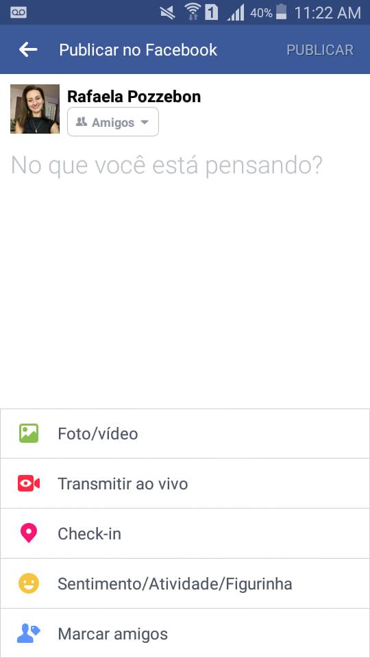 Como fazer posts coloridos no Facebook