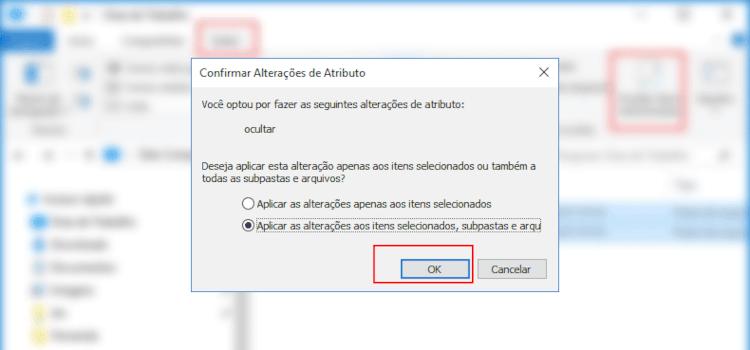 Como ocultar e desocultar arquivos e pastas no Windows 10