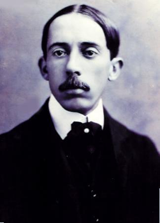 Santos Dumont quando foi morar em Paris, em 1898