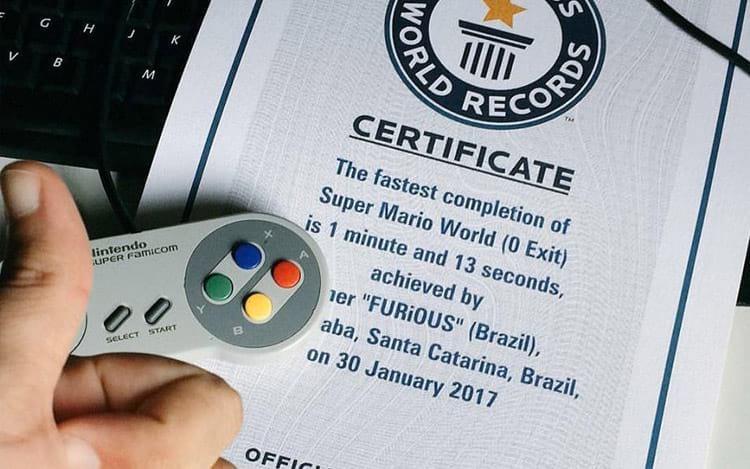 Brasileiro entra no Livro dos Recordes após completar Super Mario World em 1min13seg