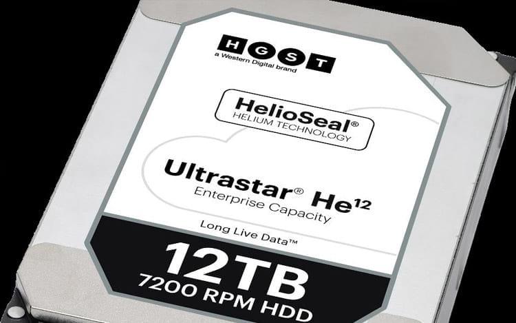 HD de 12 TB da Western Digital já está no mercado