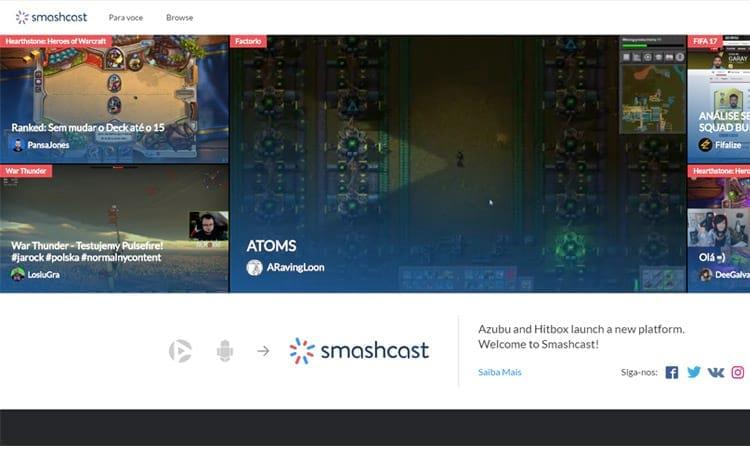 Smashcast:  empresa criada através da fusão entre Hitbox e Azubu