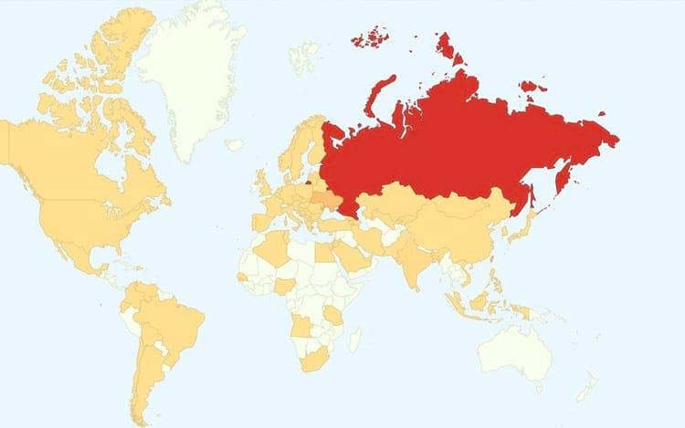 Rússia foi o país mais atingido pelo último ataque hacker
