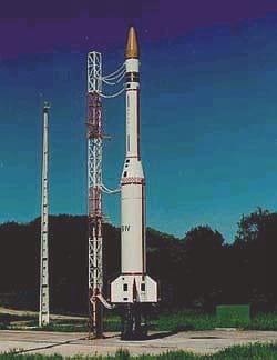 Sonda IV preparado para o lançamento