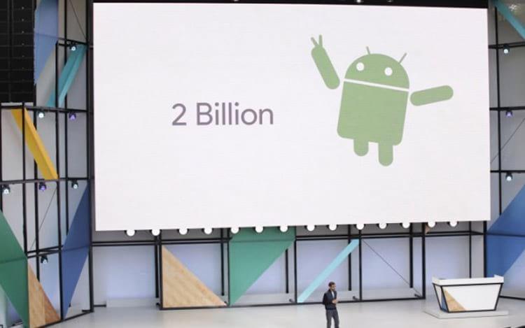 Google comemora 2 bilhões de dispositivos com Android