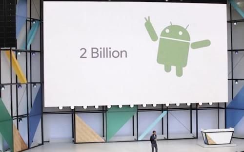 Android ultrapassa 2 bilhões de dispositivos ativos