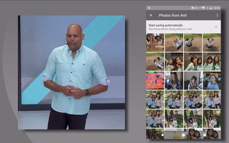 Google Photos - Compartilhamento de álbuns