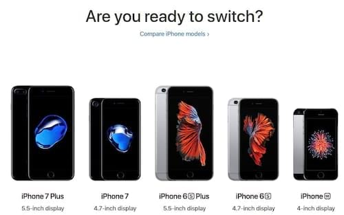 Apple lança site exclusivo para atacar Android: Switch