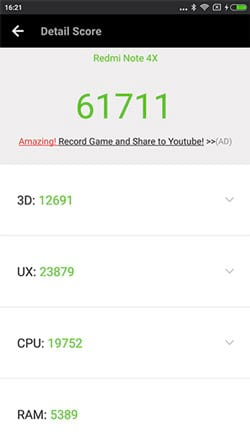 Modos de câmera - Xiaomi Redmi Note 4X