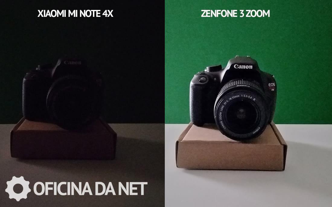 Comparativo de fotos do Xiaomi Redmi Note 4 com o Zenfone 3 Zoom. Foto pouca luz em modo noturno.