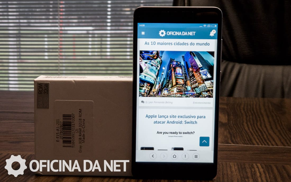Xiaomi Redmi Note 4x - Face frontal