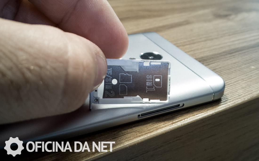 Xiaomi Redmi Note 4x - Caixa de cartões SIM híbrida