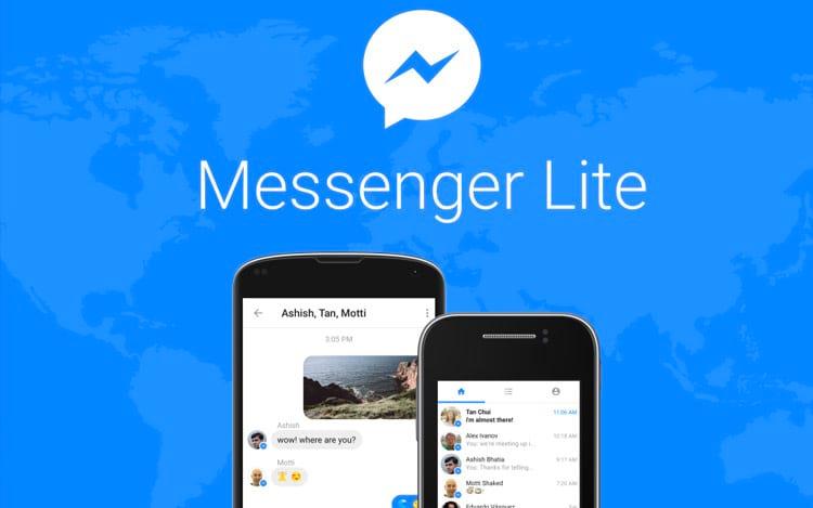 Facebook Messenger Lite chega ao Brasil