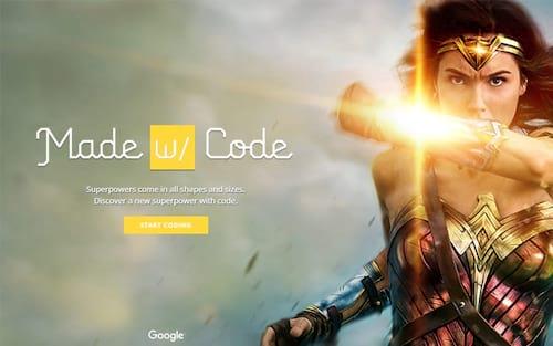 Google usa Mulher-Maravilha para ajudar meninas a programar