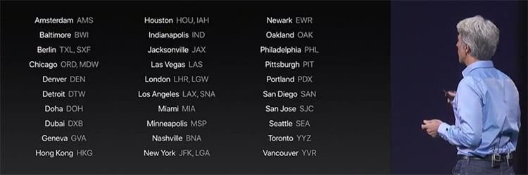 Aeroportos que vão receber mapeamento