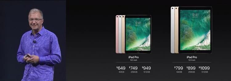 Preços do iPad Pro