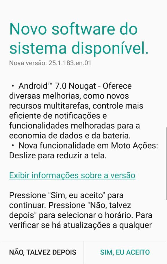 Android Nougat chega para o Moto X Force no Brasil.