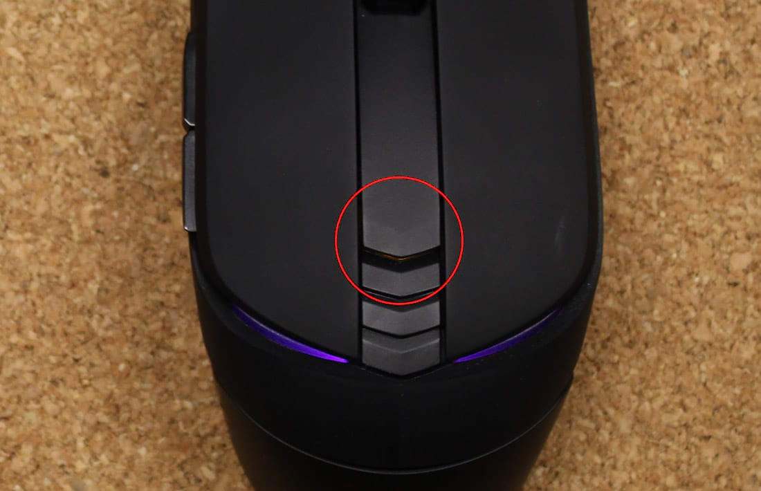 Localização do botão de DPI