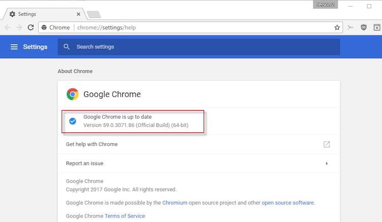 Atualizações do Chrome 59