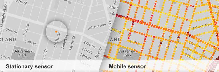 Google Street View: mapa da poluição do ar
