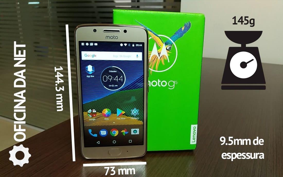 Moto G5 - Medidas
