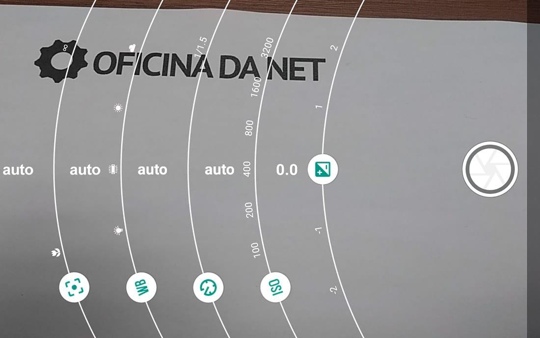Moto G5 app da câmera