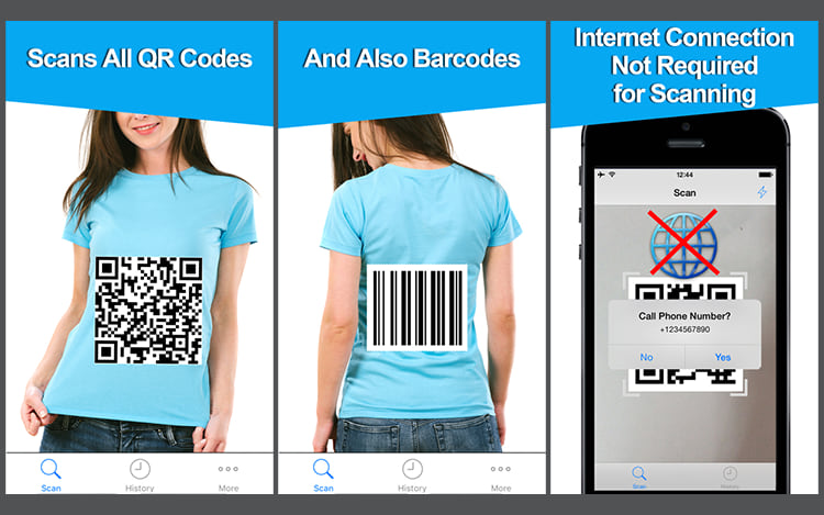 Free QR Code Reader & Barcode Scanner.