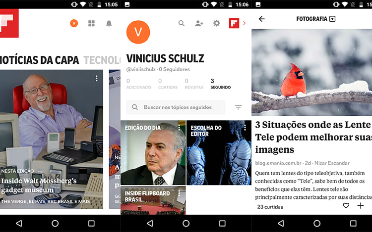 Interface Flipboard.