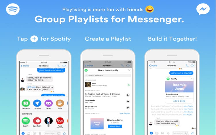 Group Playlists for Messenger