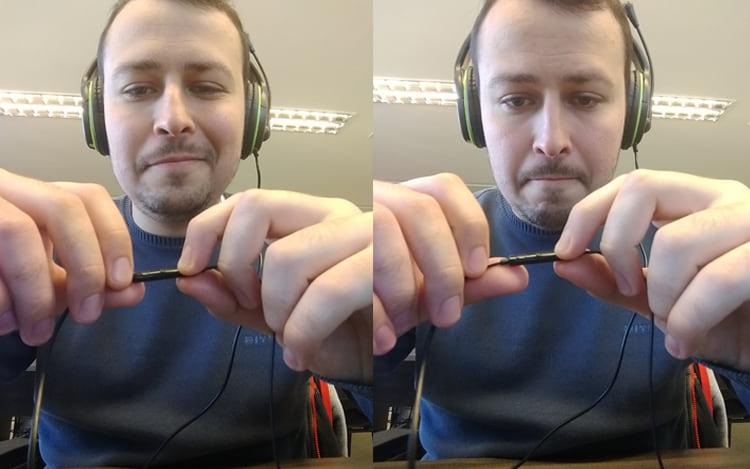 Selfies tiradas com o botão de volume do fone de ouvido.
