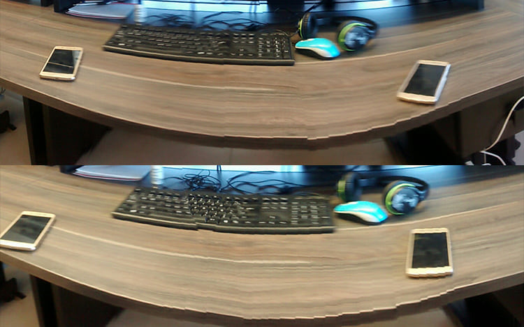 Mova os objetos durante o panorama para duplica-los.