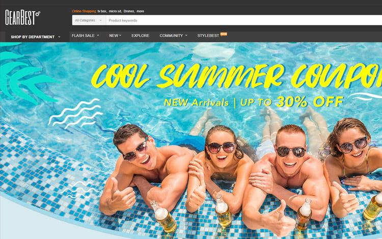 GearBest com promoções de eletrônicos