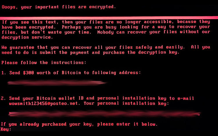 Ataque do Ransomware Petya.