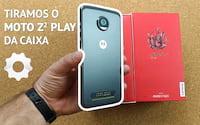 Tiramos o Moto Z2 Play da caixa: Unboxing do aparelho e de duas snaps