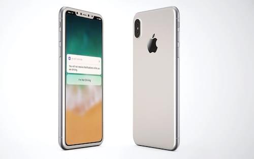 Designer aposta em iPhone 8 branco, Touch ID na tela e bordas finas