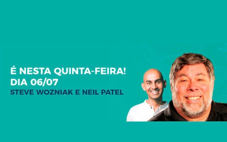 Steve Wozniak e Neil Patel em Porto Alegre